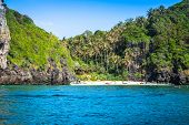 stock photo of phi phi  - Tropical island with resorts  - JPG