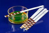 picture of chemical reaction  - Test strip for chemical or medical analyses - JPG