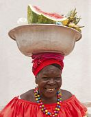 Palenquera Selling Fruits