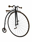 stock photo of penny-farthing  - Penny farthing bicycle on a white background - JPG