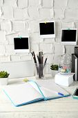 image of coy  - Stylish workplace at home or studio - JPG