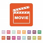 foto of clapper board  - The clapper board icon - JPG