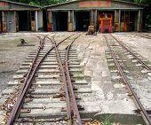 Old Diesel Train Repair Shed