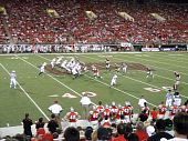 Wisconsin Offense In Action Against Unlv