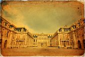 image of chateau  - Outside view of Famous palace Versailles - JPG