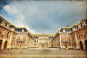 stock photo of versaille  - Outside view of Famous palace Versailles - JPG