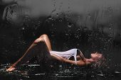 picture of wet  - Young sexy woman posed wet - JPG
