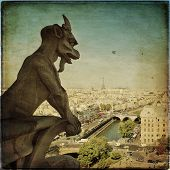 stock photo of demons  - Notre Dame of Paris - JPG