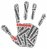 stock photo of kidnapped  - Stop kidnapping - JPG