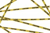 picture of safety barrier  - Strips of caution create barrier to dangers - JPG