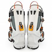 stock photo of ski boots  - Ski boots modern style - JPG