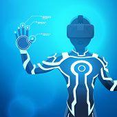 pic of nano  - Man in a virtual reality helmet - JPG