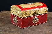 foto of jewel-case  - colorful wooden jewel box ethnic style - JPG