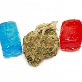 foto of marijuana  - Marijuana and Hard Candy Containing Medical Marijuana THC - JPG
