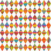 stock photo of pageant  - seamless pattern with colorfull rhombus by different colors stripes - JPG