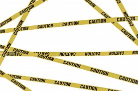 image of safety barrier  - Strips of caution create barrier to dangers - JPG