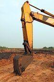 part of Excavator Loader with backhoe
