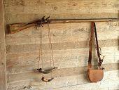Musket On Cabin Wall