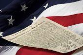 Usa Flag And Declaration