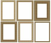 Group photo frame isolated on white