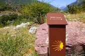 Sain James Way Sign In Track Spain Pyrenees