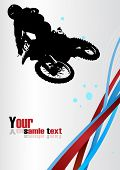 picture of moto-x  - Abstract Racing vector - JPG