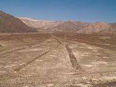 picture of geoglyph  - Ancient Nazca Lines Peruvian Desert in Peru - JPG