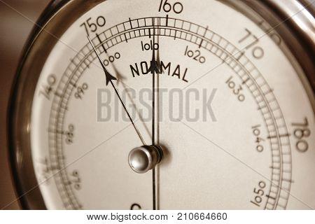 Classic barometer detail