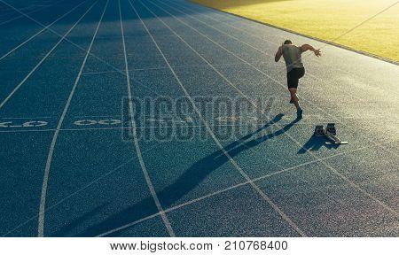 poster of Sprinter Running On Track