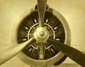 Vintage Photo Of Airplane Propeller