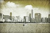 Graphic Design: Retro Picture Of Downtown Chicago