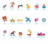 Kid Toys Icon Set