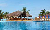 Resort pool and palapa