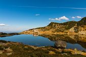 The Seven Lakes Chalet And The Fish Lake, Rila Mountain, Bulgaria poster