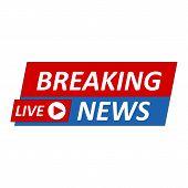 Breaking News Logo, Live Banner.tv News, Mass Media Design. poster