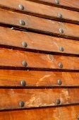 Boards with rivets