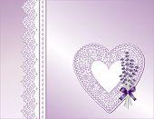 Lavender & Lace Heart Satin Present