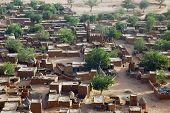 pic of dogon  - A close up looking down on a Dogon village in Mali - JPG