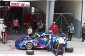 Team Samurai pits at the Malaysian SuperGT race
