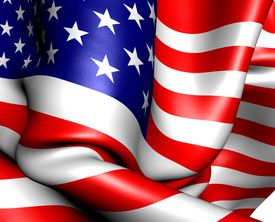 picture of waving american flag  - Flag of USA - JPG