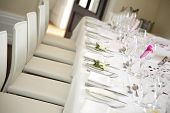 Table Is Set For The Bride And Groom