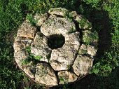 Stone Circle Base For A Windmill