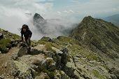Ridge of Piatra Craiului mountains, Romania
