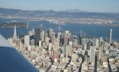 San Francisco skyline from the air