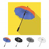 Vector Design Of Parasol And Spring Icon. Set Of Parasol And Classic Vector Icon For Stock. poster