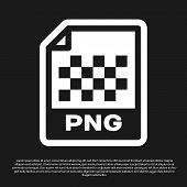 Black Png File Document Icon. Download Png Button Icon Isolated On Black Background. Png File Symbol poster