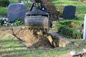 Gravedigger At Work