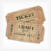 it is realistic executed vector old tickets, with possibility to edit the text and figures (the effe