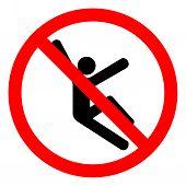 Injury Hazard Climb Hazard Symbol Sign, Vector Illustration, Isolate On White Background Label .eps1 poster