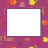 Frame With Squares And Fishes